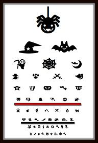 Halloween optometry eyechart