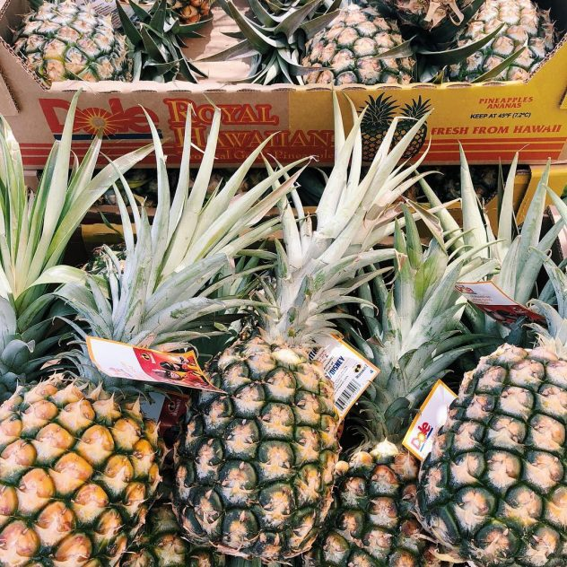 Photograph of ripe pineapples