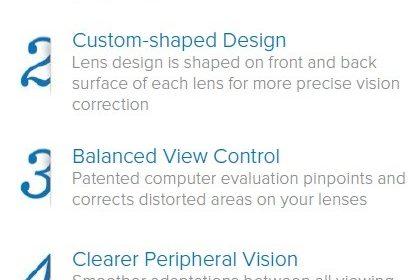 A list showing the advantages of Hoya Lifestle lenses.