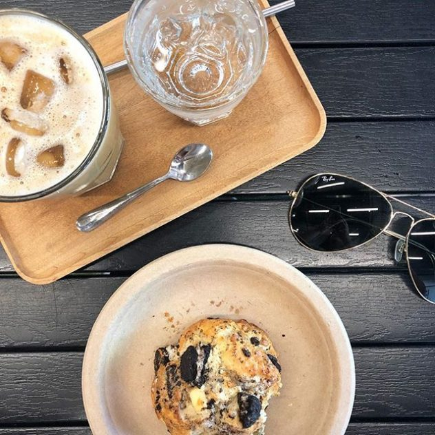 Ray Ban sunglases and coffee