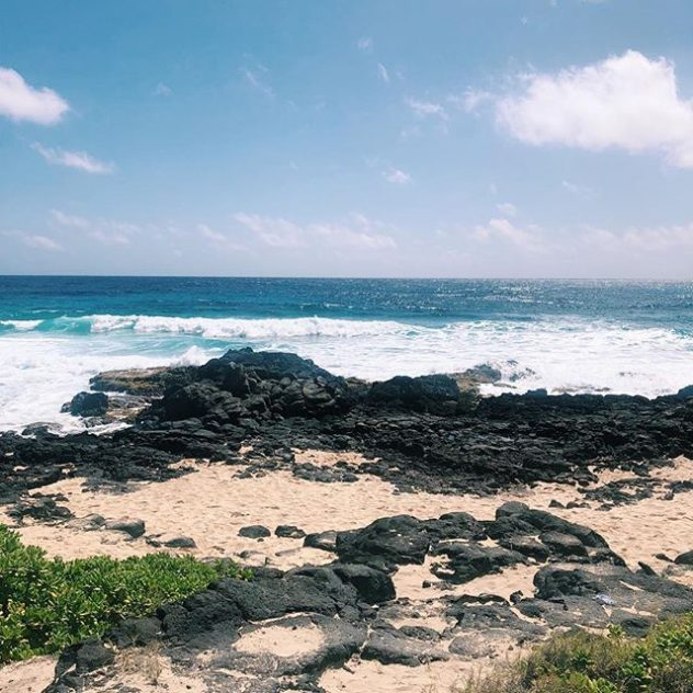 Photograph of the ocean. Makapuu , Honolulu Hawaii