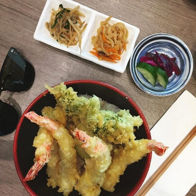 Photo of tempura and sunglasses