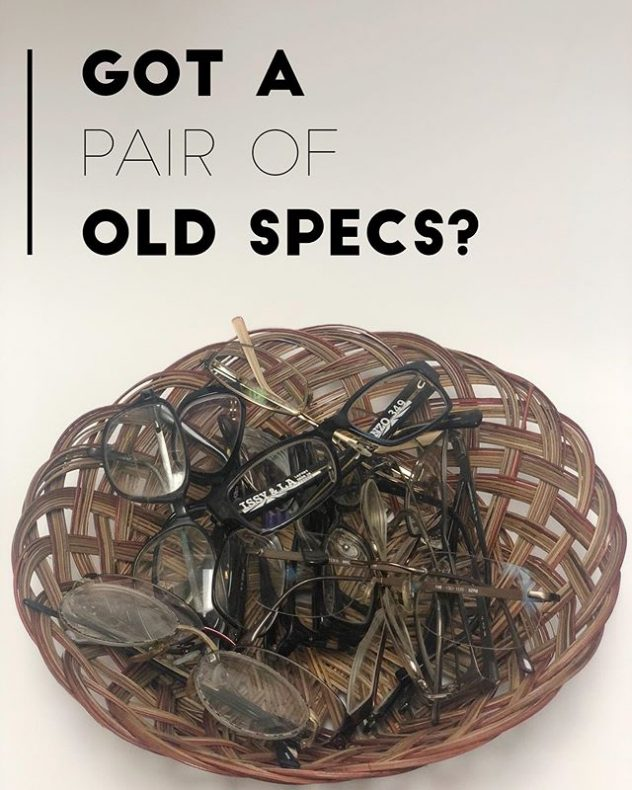 Donate your old eyeglasses.