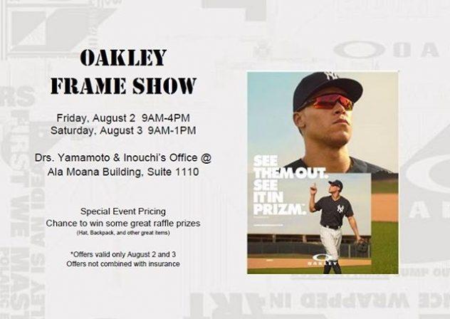 Oakley Trunk show eyeglasses