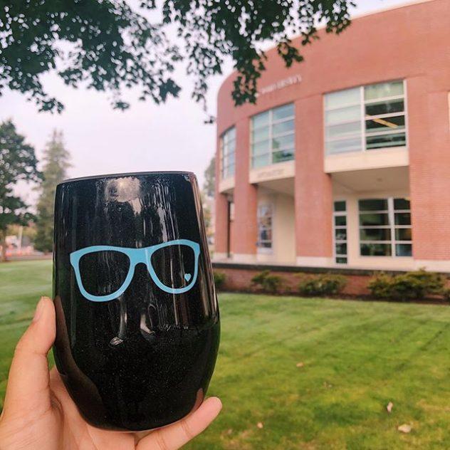 Eyeglass coffee cup