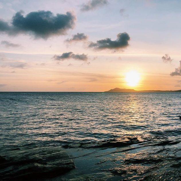 Ocean at sunsert