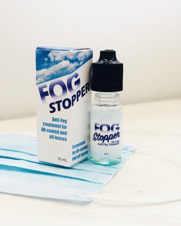 Fog stopper anti fog solution.