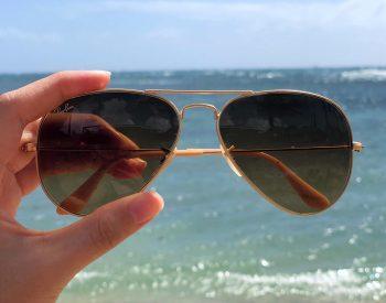 Rayban Sunglasses at the beach
