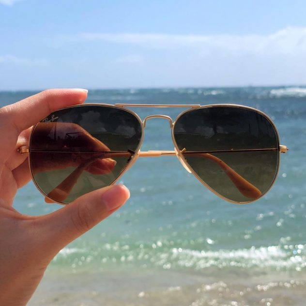 Rayban Sunglasses at the beach